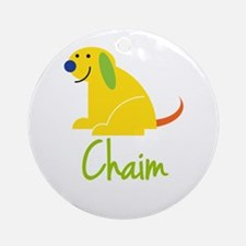 Chaim Loves Puppies Ornament (Round)