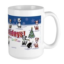 Happy Border Collie Holidays Coffee Mug
