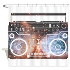 Ghetto Blaster Shower Curtain