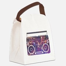 Boom Box Canvas Lunch Bag