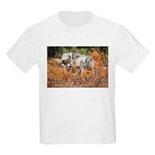 """""""Pair of Gray Twin Wolves"""" T-Shirt"""