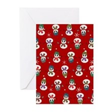Snowmen Patches Christmas Cards (Pk of 10)