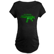 Go Green. No Wood Stocks! Maternity T-Shirt