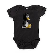 penguin cartoon blanket Baby Bodysuit