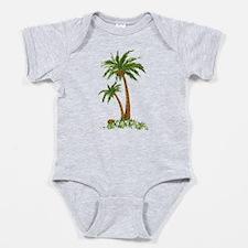 Twin Palm Tree Baby Bodysuit