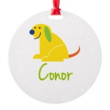 Conor Loves Puppies Ornament