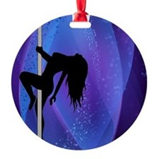 Pole Dancing Stripper - Purple Ornament