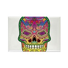 Calavera Rectangle Magnet