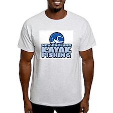 New England Kayak Fishing Ash Grey T-Shirt