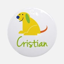 Cristian Loves Puppies Ornament (Round)