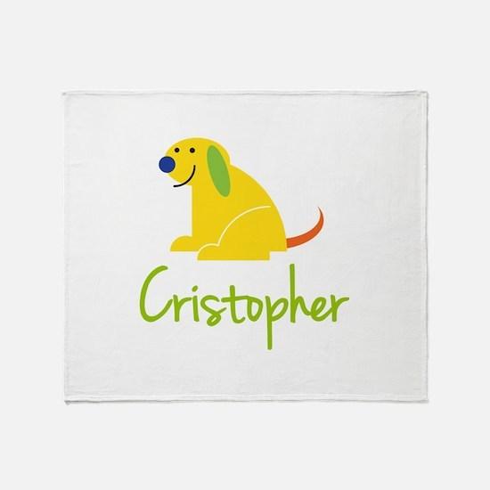 Cristopher Loves Puppies Throw Blanket