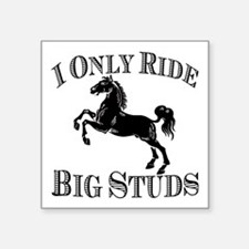 "Big Studs - Rearing #1 - Black Square Sticker 3"" x"