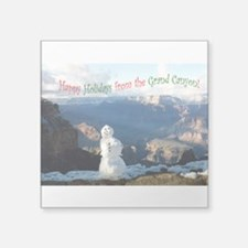 """Holiday Greeting Square Sticker 3"""" x 3"""""""