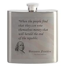 Franklin on...Money Flask