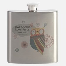 Owl Always Love Jesus Owl Flask