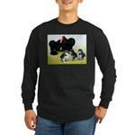 Black Cochin Family Long Sleeve Dark T-Shirt