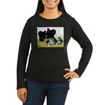 Black Cochin Family Women's Long Sleeve Dark T-Shi