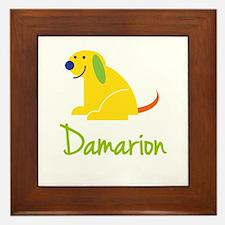 Damarion Loves Puppies Framed Tile