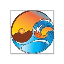 Orange County DotCom Yin Yang Logo Sticker
