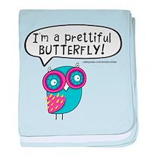 Im a prettiful butterfly baby blanket