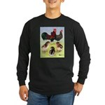 Danish Leghorn Rooster, Hen & Long Sleeve Dark T-S