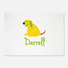 Darrell Loves Puppies 5'x7'Area Rug