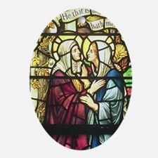 The Visitation Oval Ornament