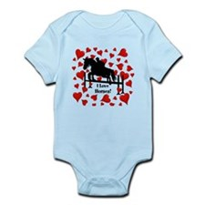 Fun Horse Jumper and Hearts Infant Bodysuit