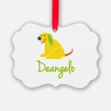 Deangelo Loves Puppies Ornament