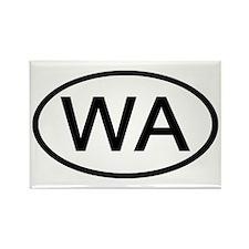WA Oval - Washington Rectangle Magnet