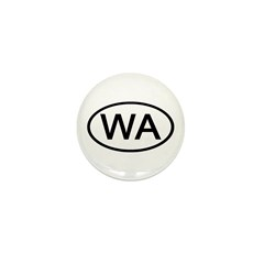 WA Oval - Washington Mini Button (100 pack)