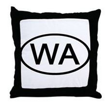 WA Oval - Washington Throw Pillow