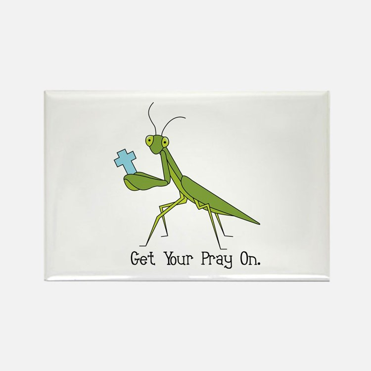 Get Your Pray On Rectangle Magnet (10 pack)