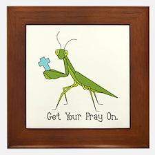 Get Your Pray On Framed Tile
