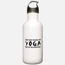 Dear God Thanks For Yoga Water Bottle