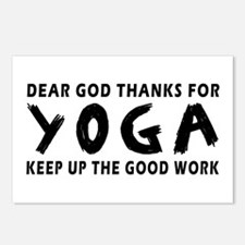 Dear God Thanks For Yoga Postcards (Package of 8)