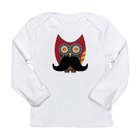 red owl with mustache Long Sleeve T-Shirt