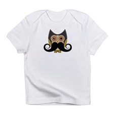 Dark owl with mustache Infant T-Shirt