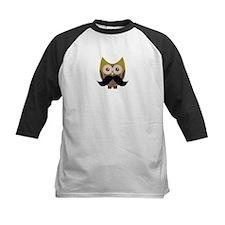 Golden Owl with Mustache Baseball Jersey