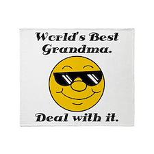 World's Best Grandma Humor Throw Blanket
