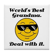 World's Best Grandma Humor Tile Coaster
