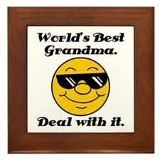World's Best Grandma Humor Framed Tile