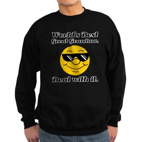 World's Best Great Grandma Humor Sweatshirt (dark)