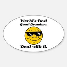 World's Best Great Grandma Humor Sticker (Oval)