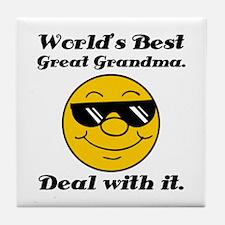 World's Best Great Grandma Humor Tile Coaster