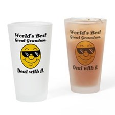 World's Best Great Grandma Humor Drinking Glass