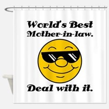 World's Best Mother-In-Law Humor Shower Curtain