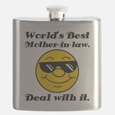 World's Best Mother-In-Law Humor Flask