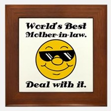 World's Best Mother-In-Law Humor Framed Tile