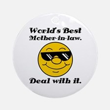 World's Best Mother-In-Law Humor Ornament (Round)